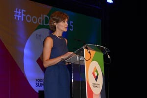 <p>Isabel García Tejerina en la clausura del Madrid Food Drink Summit.</p>